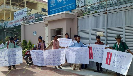 ethnic_kuoy_families_from_preah_vihear_province_protest_at_the_ohchr_office_in_phnom_penh_yesterday_after_they_were_violently_evicted_from_their_homes_earlier_this_month_18_10_2016_supplied