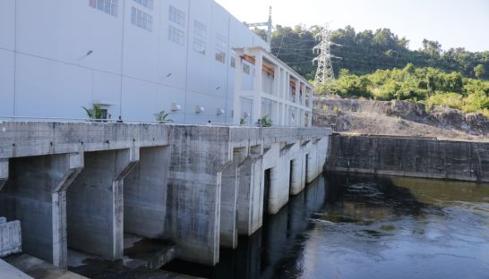 A view of the Stung Tatai hydropower dam after its inauguration in 2015. Heng Chivoan