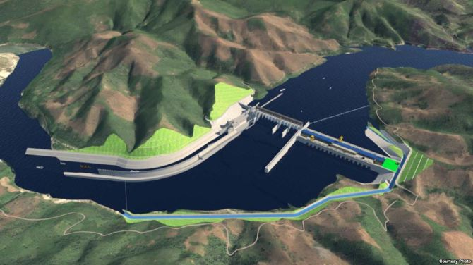 A computer image of the proposed Pak Beng hydropower dam in Laos. (Courtesy photo of Pak Beng hydropower project)