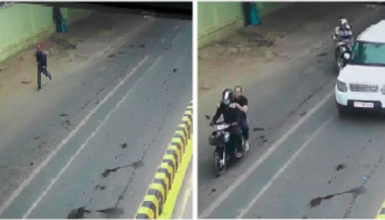In side-by-side frames of CCTV footage taken seconds apart, Oeut Ang can be seen running down Mao Tse Tung Boulevard in Phnom Penh moments after shooting political analyst Kem Ley, with two motorbikes and an SUV believed to be carrying police officials trailing him closely at low speed. Fresh news
